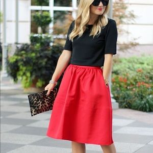 Red Express Midi Skirt